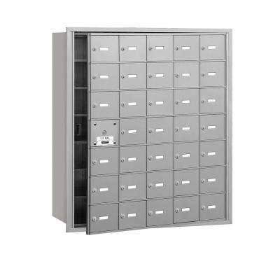 Aluminum USPS Access Front Loading 4B Plus Horizontal Mailbox with 35A Doors (34 Usable)