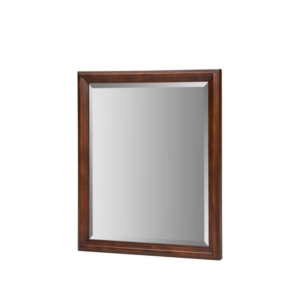 Malago 28 in. Wall Mount Mirror in Distressed Maple