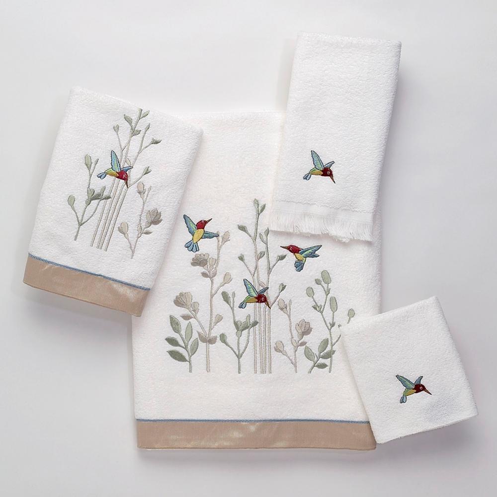 Avanti Linens Colibri 4-Piece Bath Towel Set in White 01946S WHT