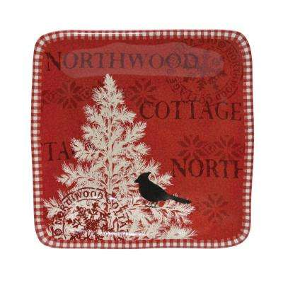 Northwood Cottage Mixed Square Appetizer Plates (Set of 4)