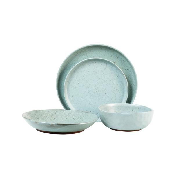 Kaya 16-Piece Casual Blue Stone Dinnerware Set (Service for 4)