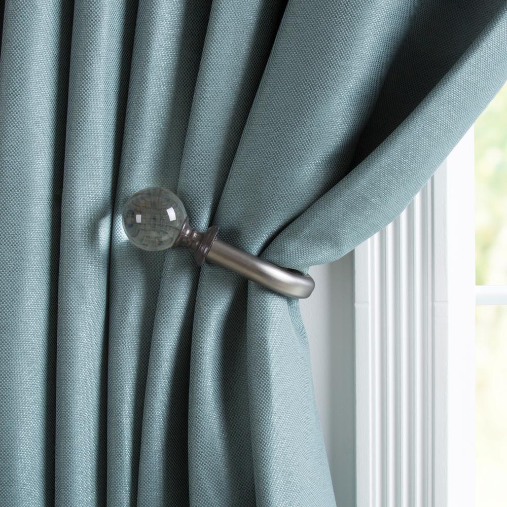 Household Metal Window Drapery Tie-backs Curtain Holdback Hold Backs 2 Pcs