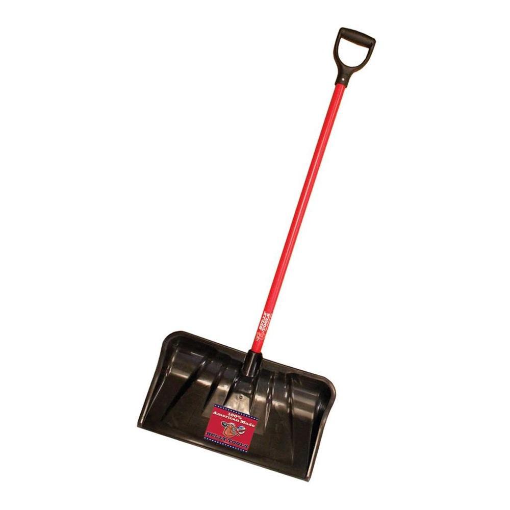 22 in. Combination Snow Shovel with Fiberglass D-Grip Handle
