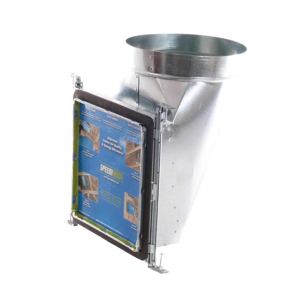Speedi Boot 8 In W X 8 In L To 6 In Diameter 90 Degree Register