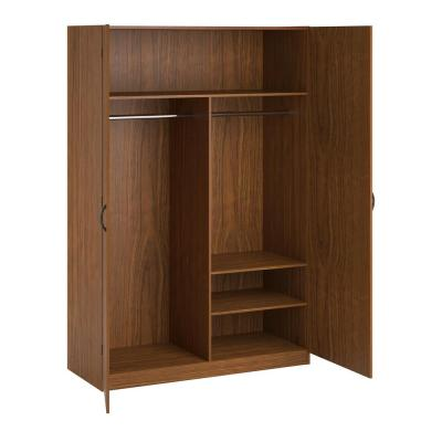 SystemBuild Jennings 20.125 in. D x 48 in. W x 71.5 in. H City Oak Wood Wardrobe Storage Closet