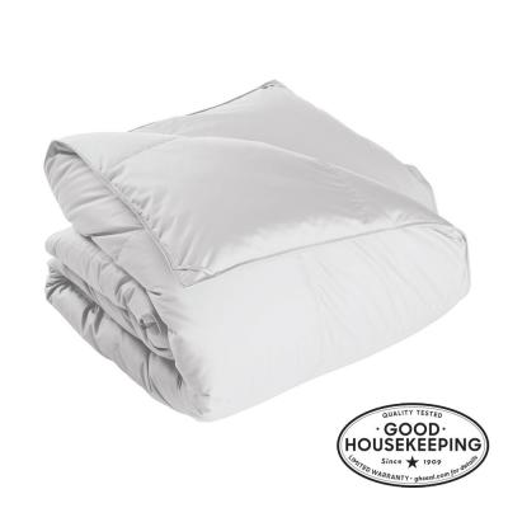 Alberta Light Warmth White Queen Euro Down Comforter