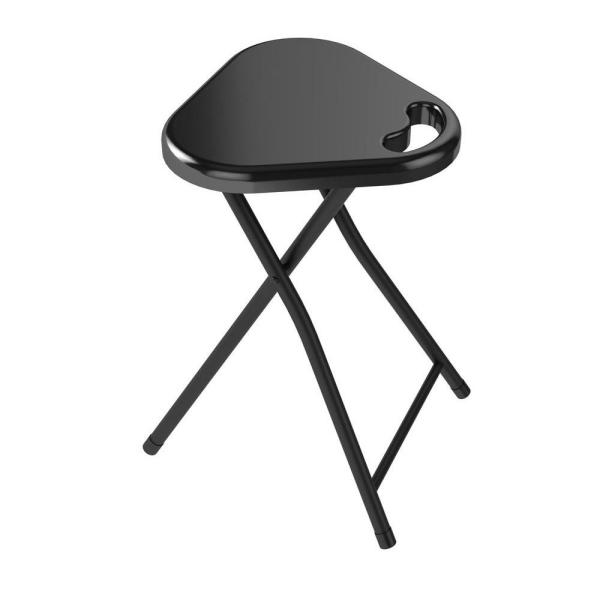 Peachy Atlantic Black Folding Stool Set Of 4 38435923 The Home Andrewgaddart Wooden Chair Designs For Living Room Andrewgaddartcom