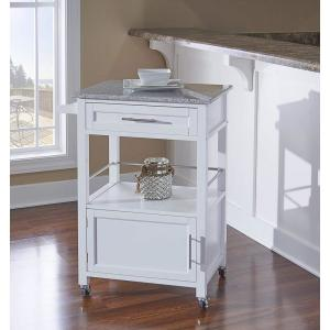 Kitchen Islands Carts Linon Kyler White Cart Home Decor Products Inc AMZN0265