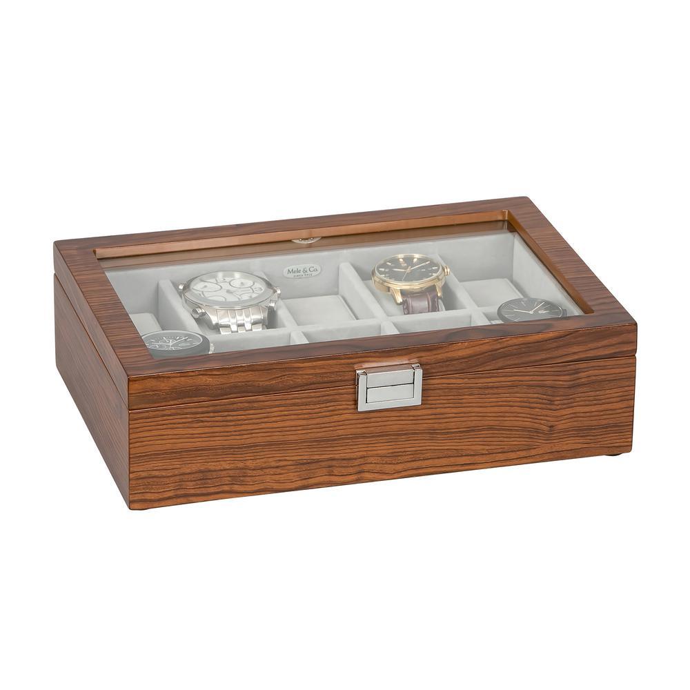 Mahogany Jayson Glass Top Wooden Watch Box