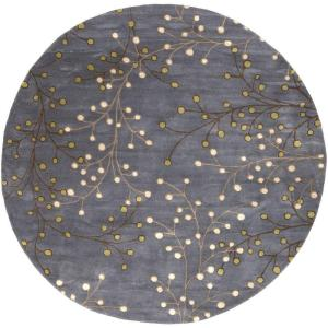 Artistic Weavers Aloysia Charcoal 8 ft. x 8 ft. Round Indoor Area Rug by Artistic Weavers