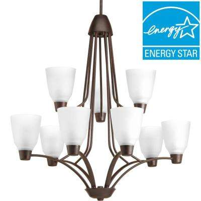 Asset Collection 9-Light Antique Bronze Chandelier with Shade
