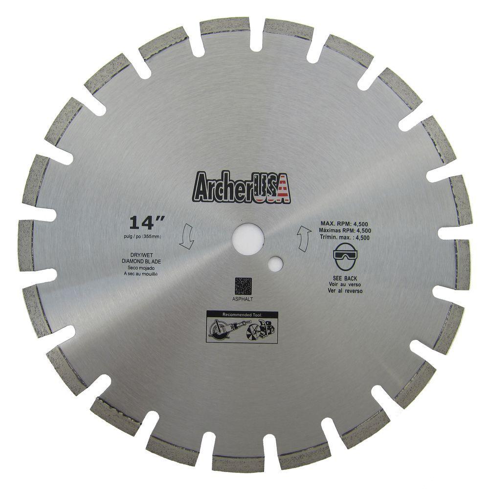 Archer USA 14 in. Diamond Blade for Asphalt Cutting