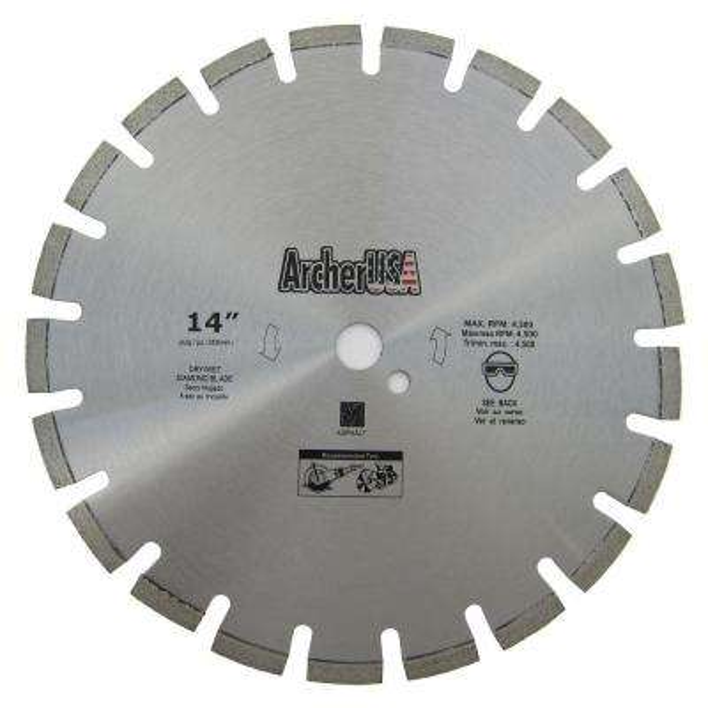 14 in. Diamond Blade for Asphalt Cutting
