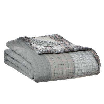 50 in. x 60 in. Fairview Grey Quilted Throw