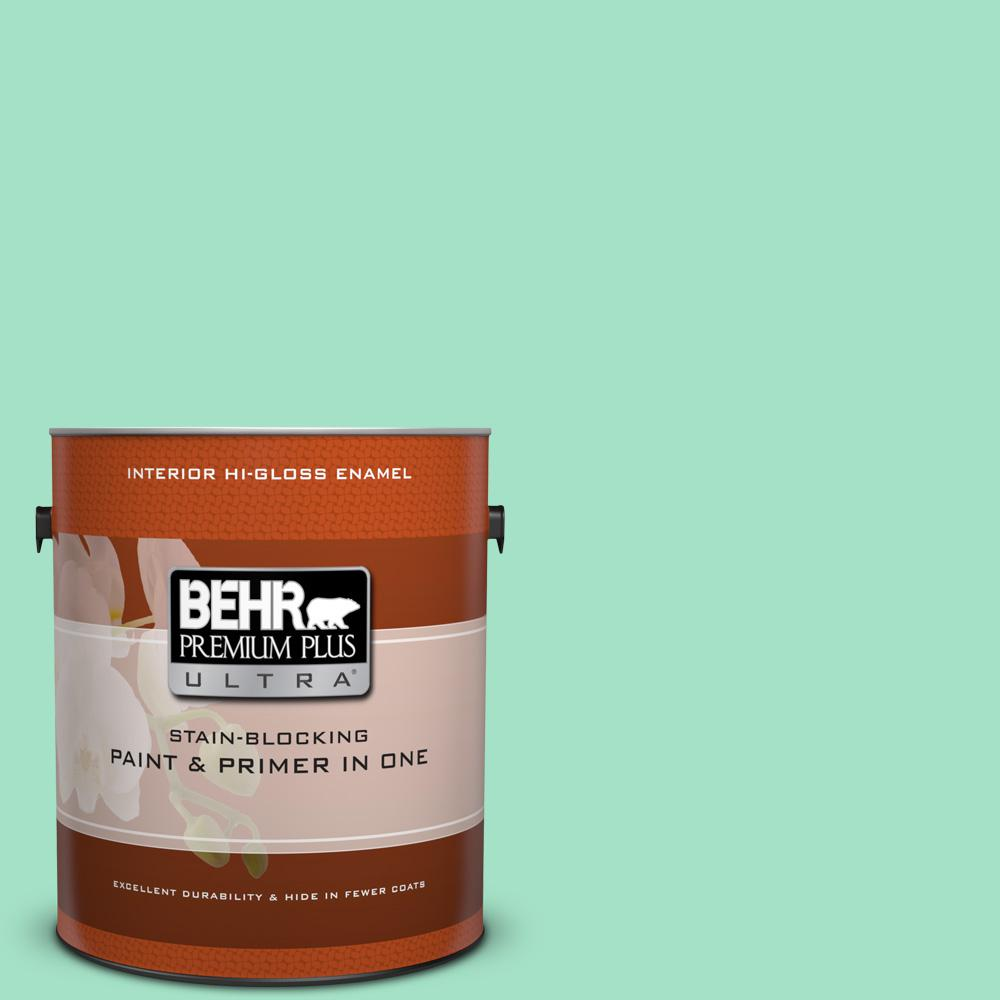 1 gal. #470A-3 Reef Green Hi-Gloss Enamel Interior Paint