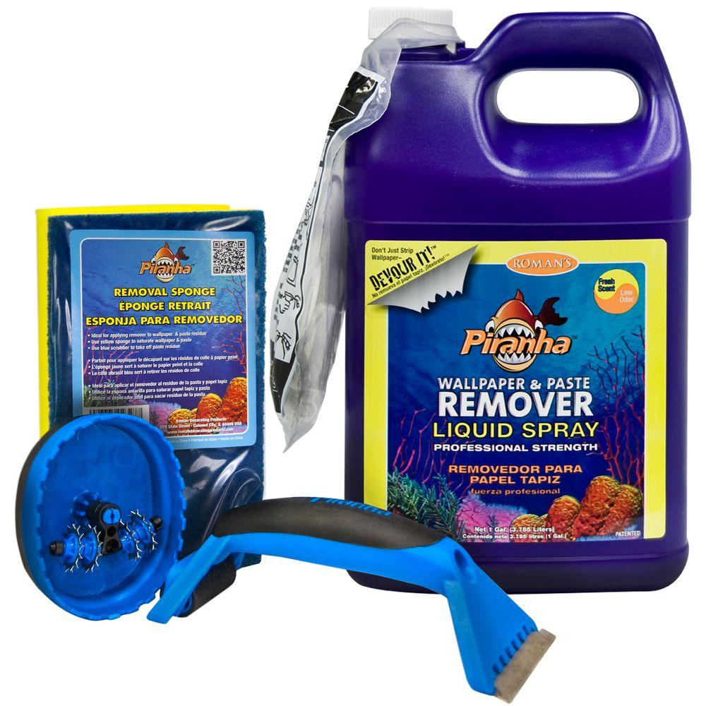 1 gal. Piranha Liquid Spray Wallpaper Removal Kit for Small Sized