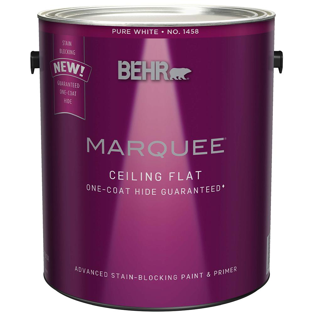 behr marquee 1 gal flat interior ceiling paint 145801 the home depot. Black Bedroom Furniture Sets. Home Design Ideas