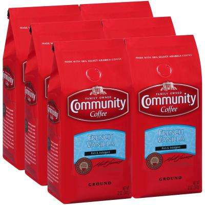 12 oz. French Vanilla Medium Roast Premium Ground Coffee (6-Pack)
