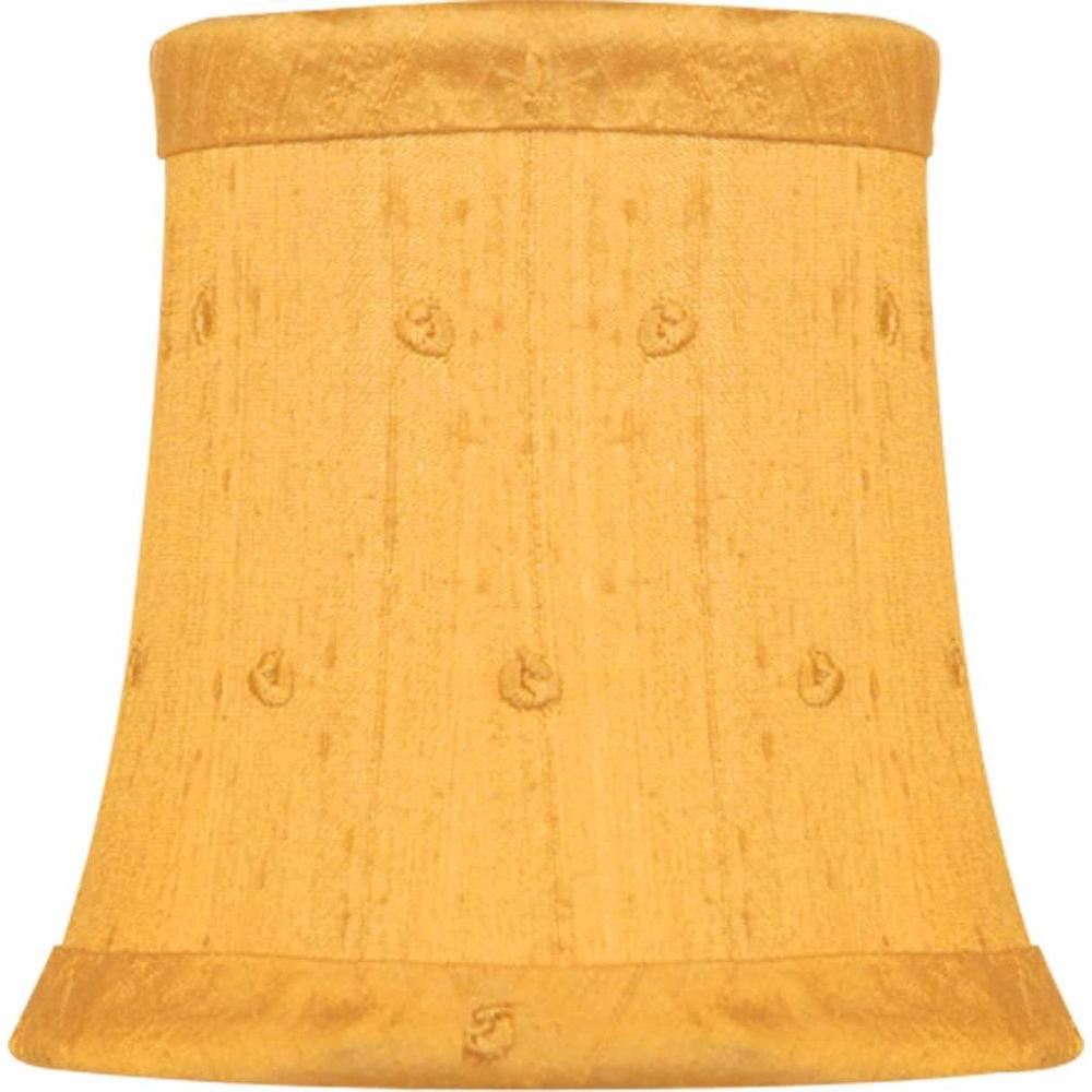 Finishing touch stretch bell butterscotch dupione silk chandelier finishing touch stretch bell butterscotch dupione silk chandelier shade with embroidered french knots mozeypictures Choice Image