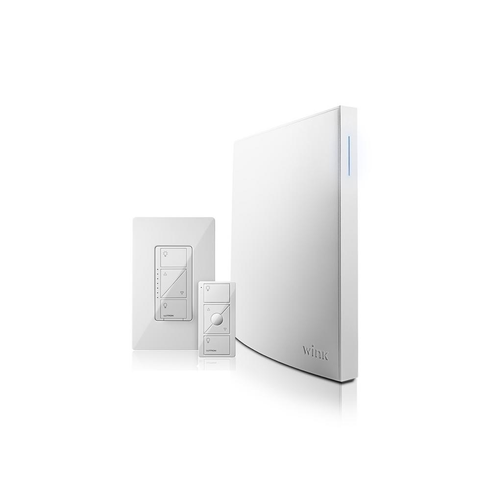 Wink Hub 2 + Lutron Caseta In-Wall Dimmer and Pico Smart Home Control Kit