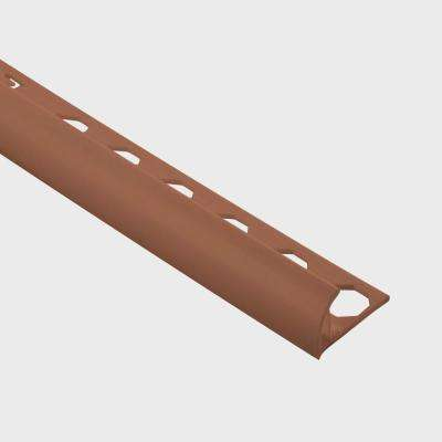 Novocanto Brown 3/8 in. x 98-1/2 in. PVC Tile Edging Trim