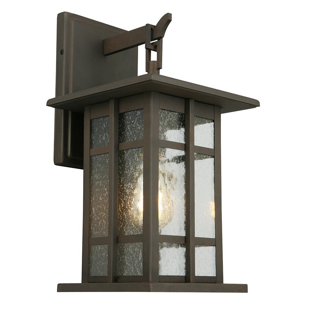 Arlington Creek 1- Light Matte Bronze Outdoor Wall Lantern
