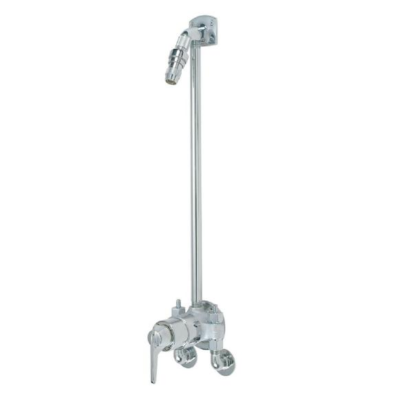Safetymix Single-Handle 1-Spray Shower Faucet with Stops in Chrome (Valve Included)
