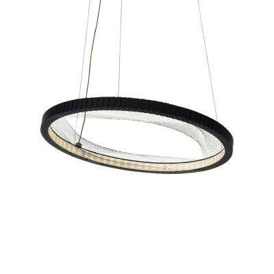 Interlace 18 in. Rubberized Black LED Chandelier Shade
