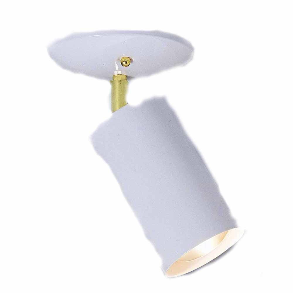 Filament Design Lenor 1-Light White Incandescent Ceiling Semi-Flush Mount Light