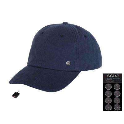 Coin Battery Hat with Attachable LED Light, Navy