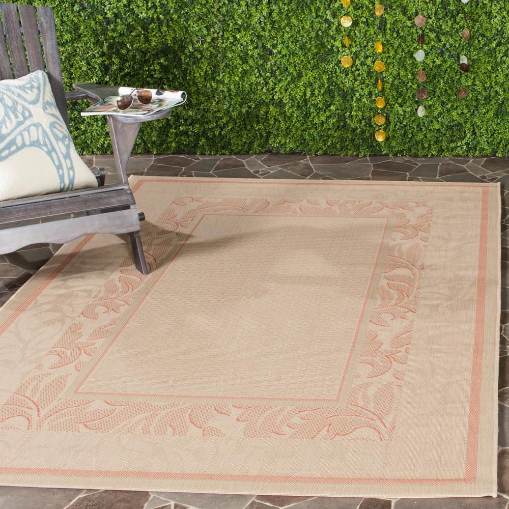 Outdoor Rug 7 X 10: Safavieh Courtyard Natural/Terracotta 7 Ft. X 10 Ft