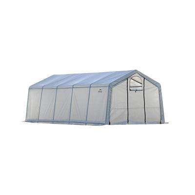 12 ft. W x 20 ft. D x 8 ft. H GrowIt Peak-Style Greenhouse-In-A-Box with Patent-Pending Stabilizers