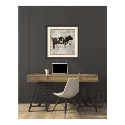 33.38 in. W x 33.38 in. H Cow by PI Studio Printed Framed Wall Art