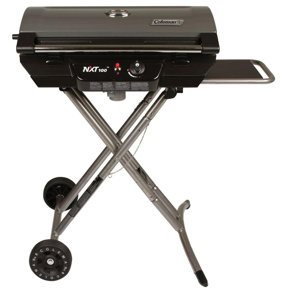Coleman 1-Burner Portable Propane Gas Grill in Black, Gunmetal Gray Coleman 1-Burner Portable Propane Gas Grill in Black, Gunmetal Gray