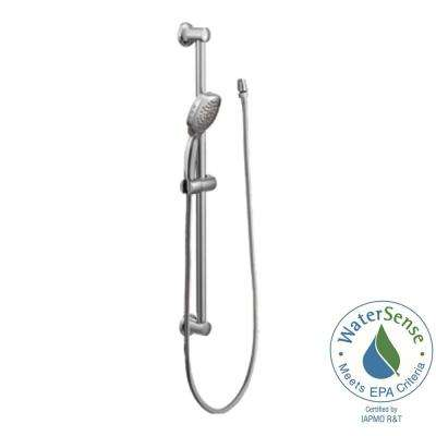 Twist 4-Spray Handheld Handshower with Slide Bar in Chrome