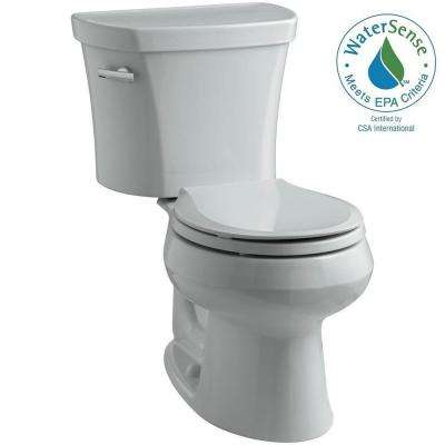 Wellworth 14 in. Rough-In 2-piece 1.28 GPF Single Flush Round Toilet in Ice Grey