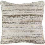 Marceline Brown Striped Polyester 16 in. x 16 in. Throw Pillow