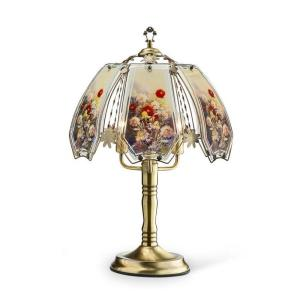 ORE International 23.5 inch Gold Floral Garden Touch Lamp by ORE International