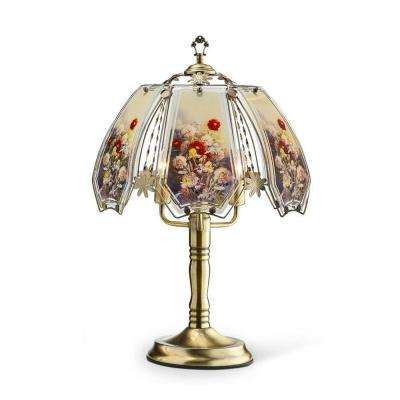 23.5 in. Gold Floral Garden Touch Lamp