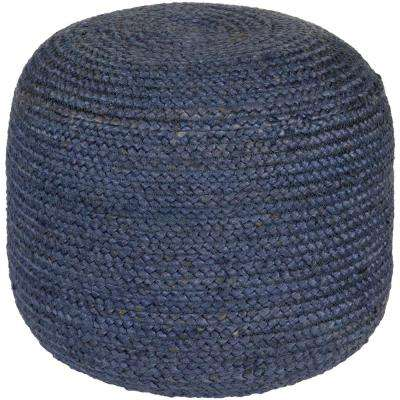 Vanth Dark Blue Accent Pouf