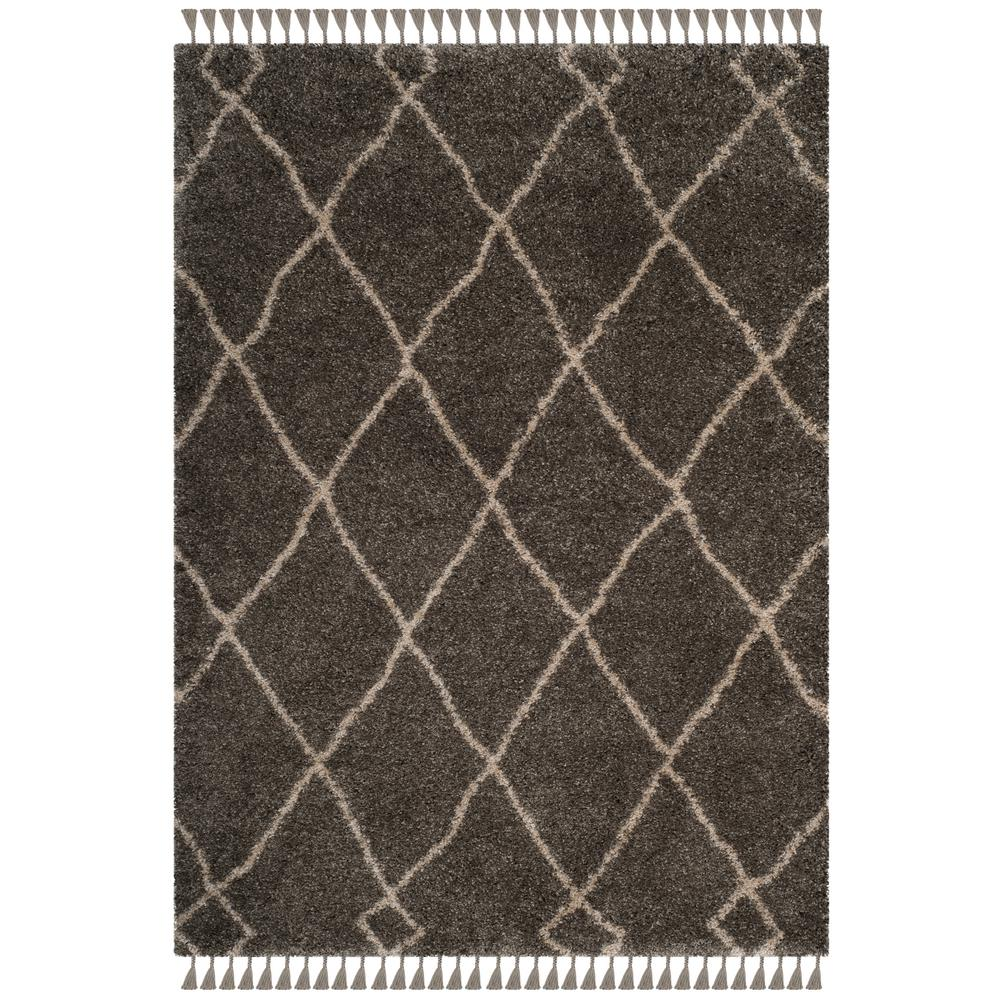 Sweet Home Stores Cozy Shag Collection Gray And Cream