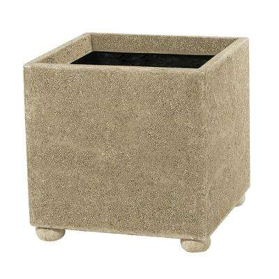 Modern Square 16 in. Natural LavaStone Planter