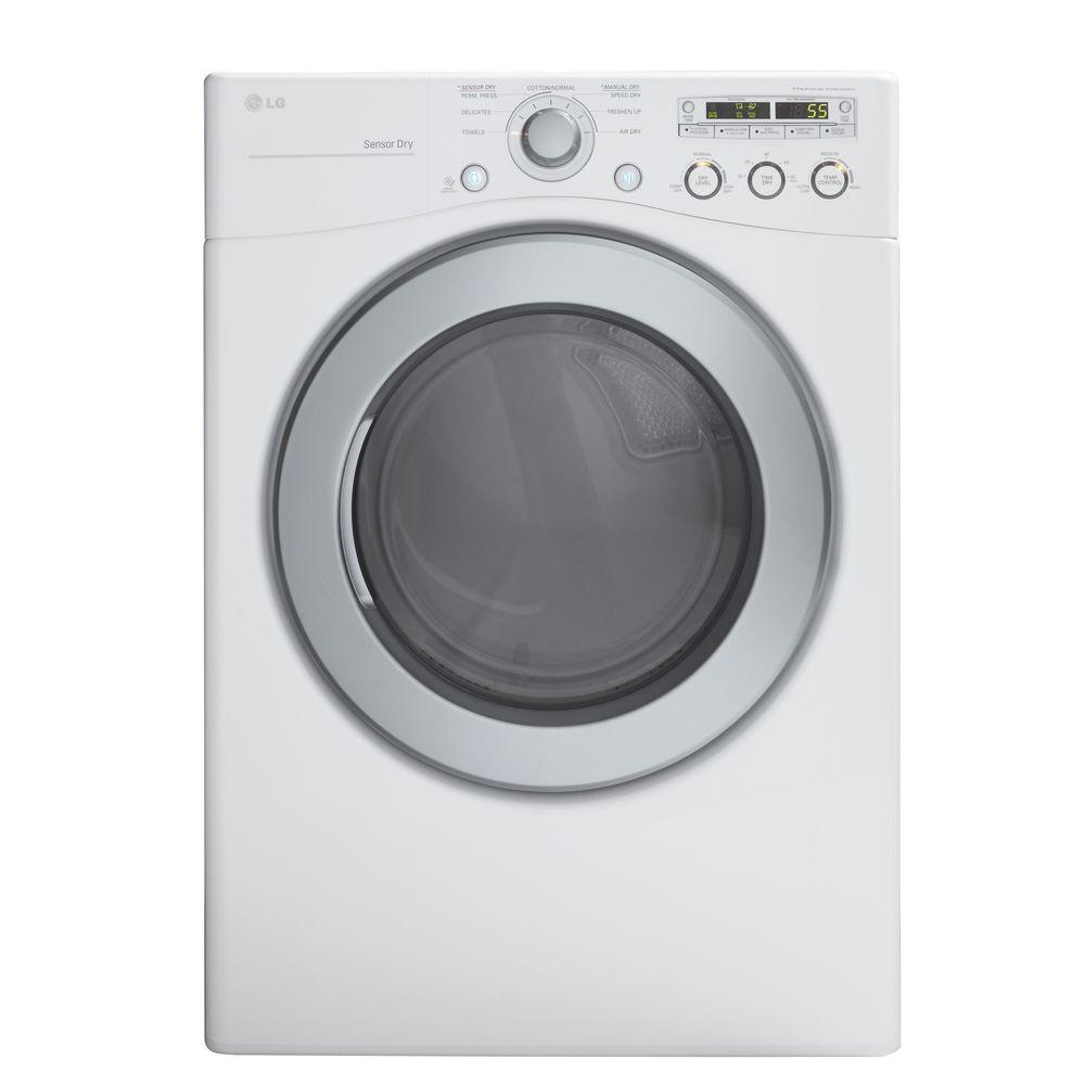 LG Electronics 7.1 cu. ft. Gas Dryer in White-DISCONTINUED