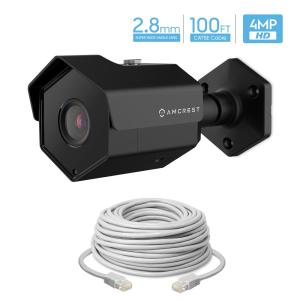 Amcrest UltraHD 4MP Wired Outdoor Bullet POE IP Security