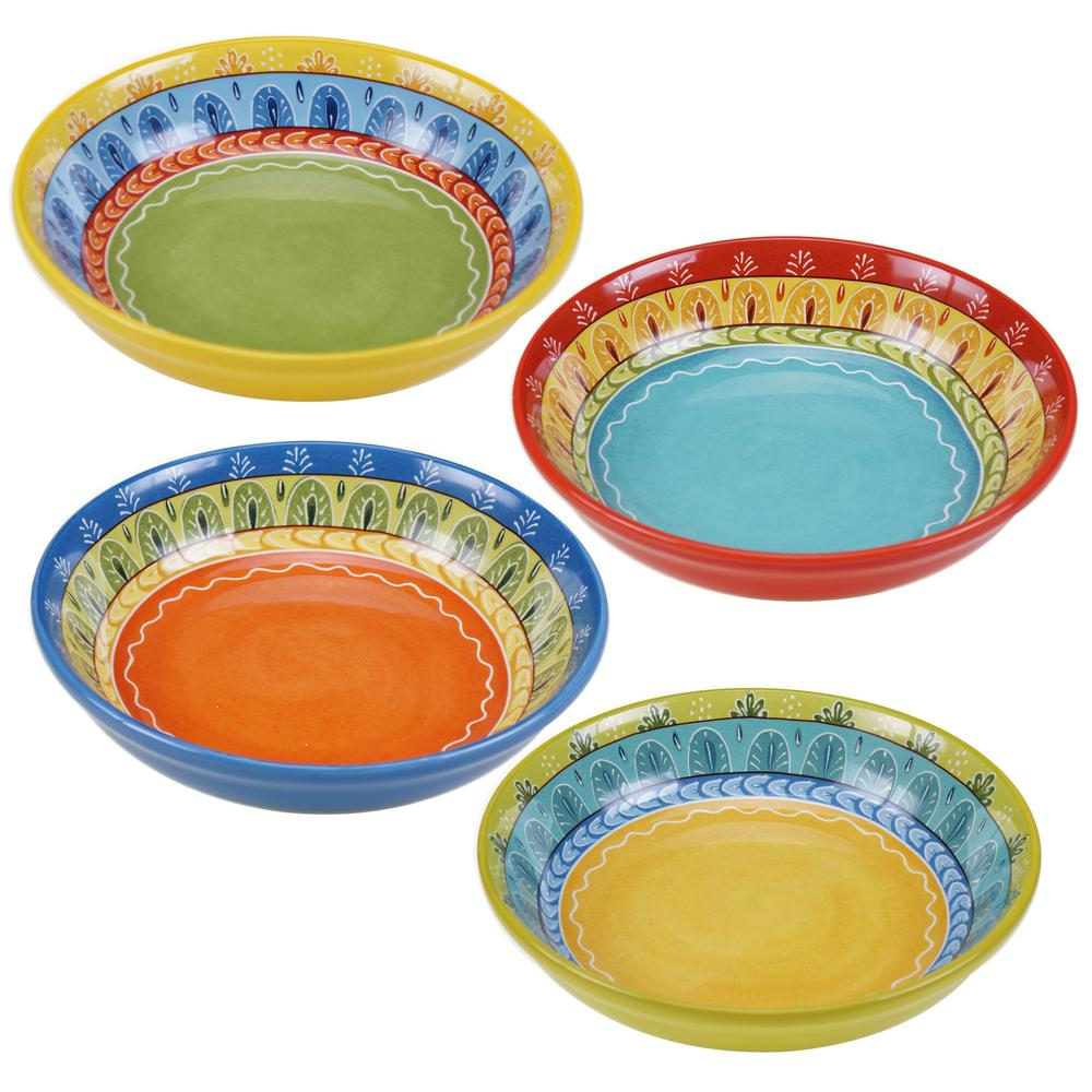 Certified International Valencia 9.25 in. Soup/Pasta bowl (Set of 4)  sc 1 st  The Home Depot & Certified International Valencia 9.25 in. Soup/Pasta bowl (Set of 4 ...
