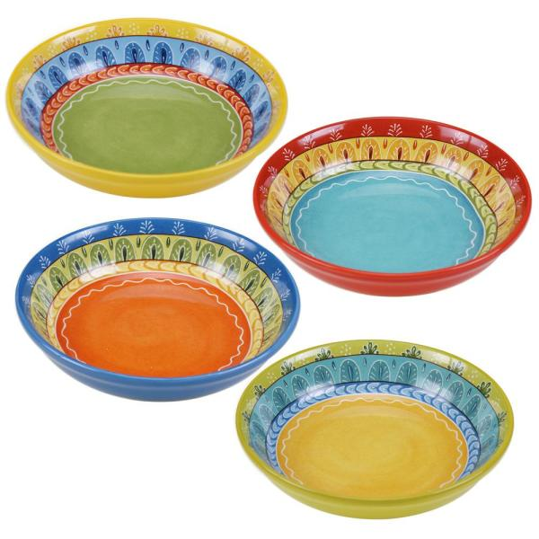 Certified International Valencia 9.25 in. Soup/Pasta bowl (Set of 4)