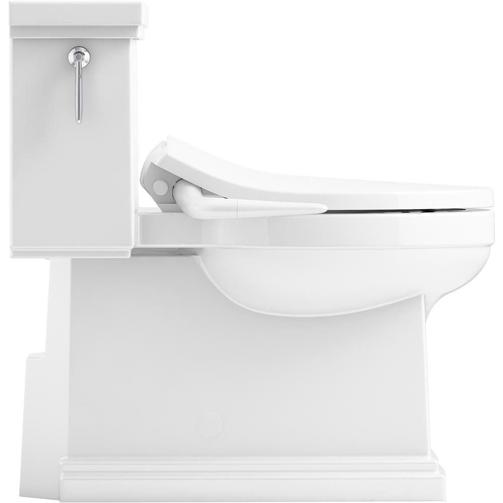 Brilliant Kohler Tresham 1 Piece 1 28 Gpf Single Flush Elongated Toilet With Puretide Manual Bidet Toilet Seat In White Machost Co Dining Chair Design Ideas Machostcouk