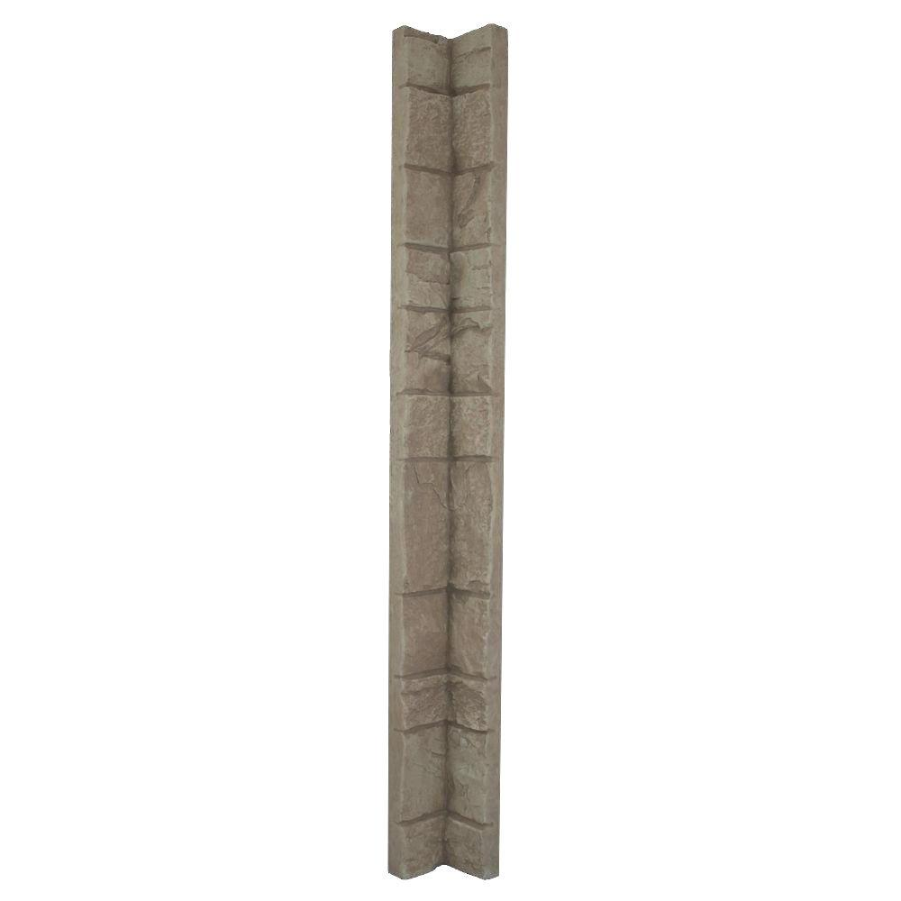 Superior Building Supplies Creamy Beige 48 in. x 3 in. x 3 in. Faux Stone Inside Corner