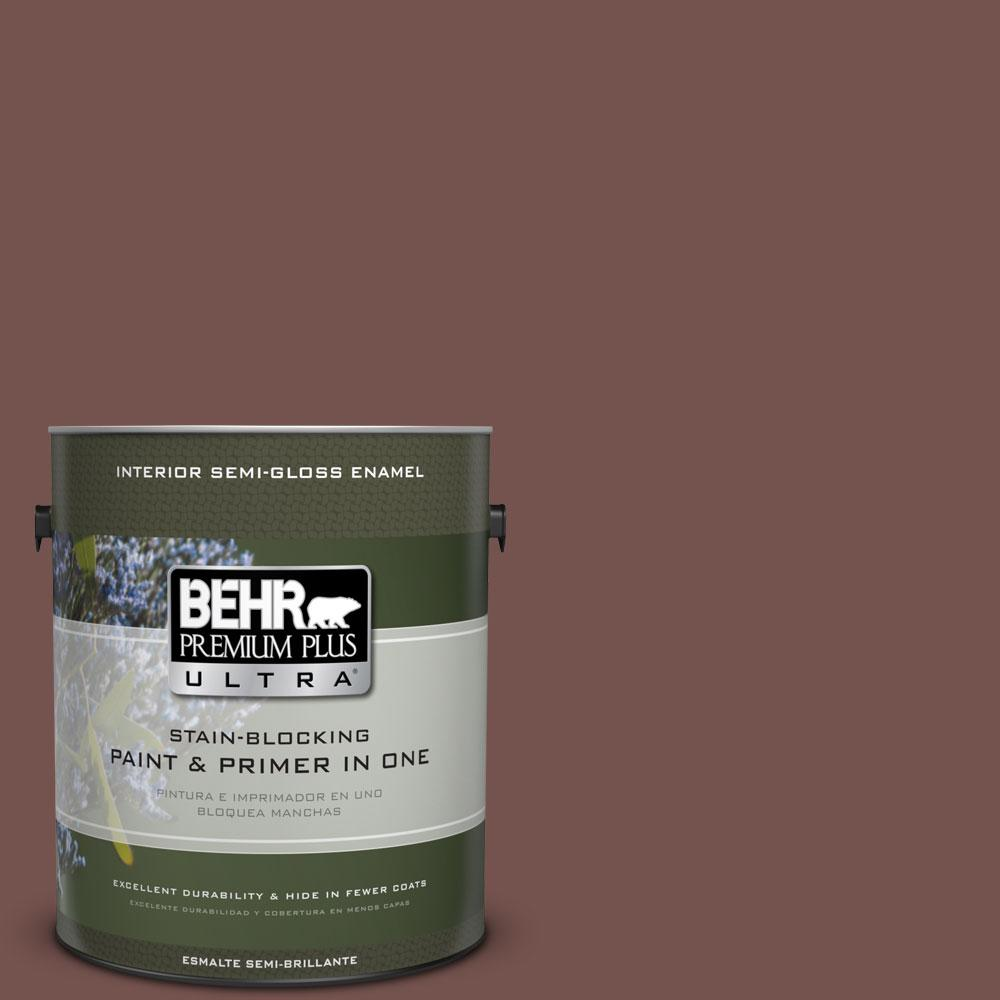 Home Decorators Collection 1-gal. #HDC-CL-12 Terrace Brown Semi-Gloss Enamel