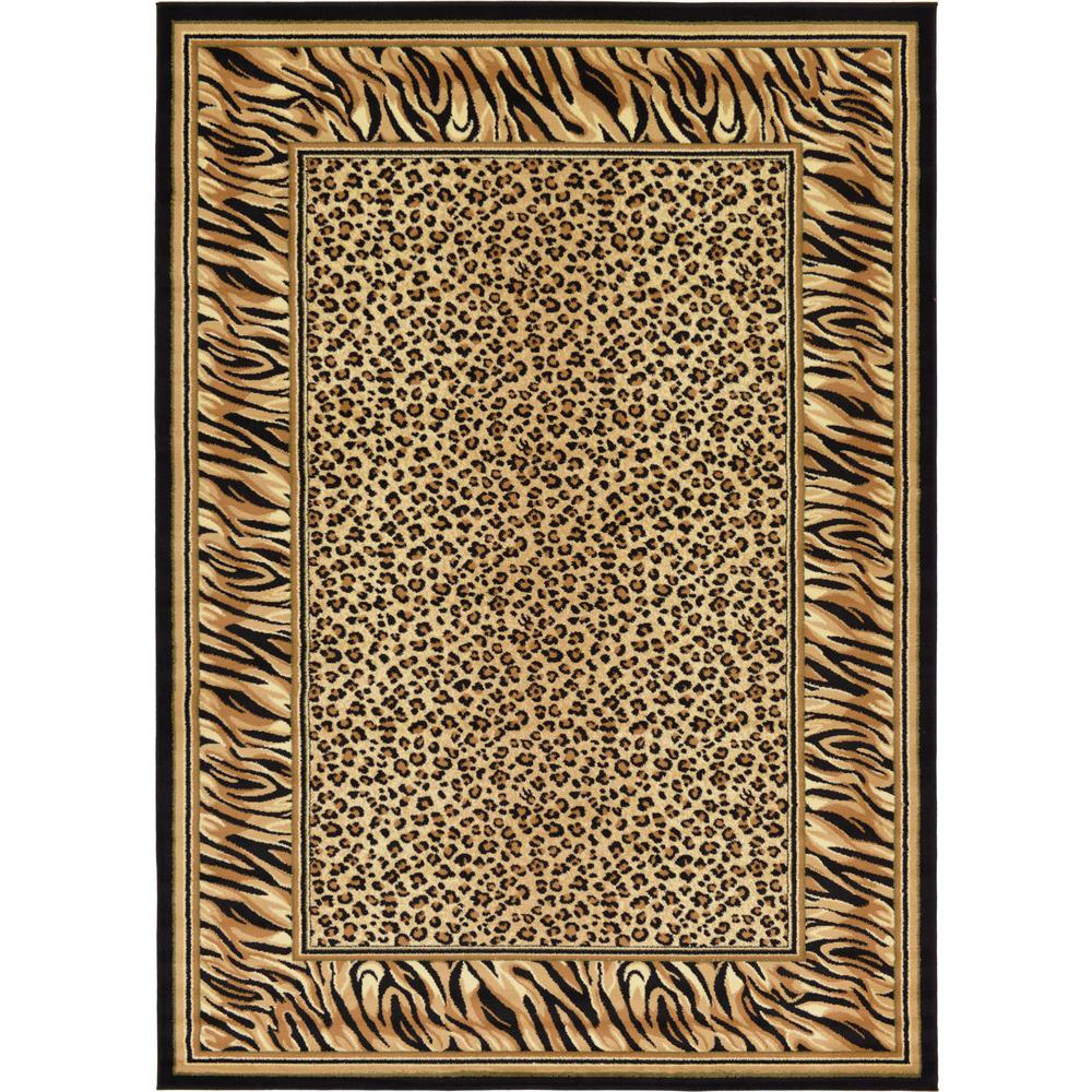 Unique Loom Wildlife Light Brown 7' X 10' Rug-3125109